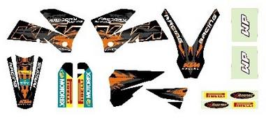 Sada polepů KTM SX/EXC (05-07)