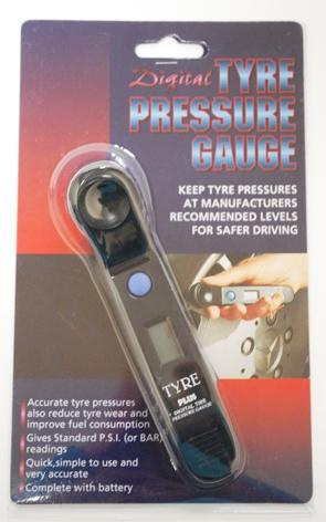 Měřič tlaku pneumatik digitální