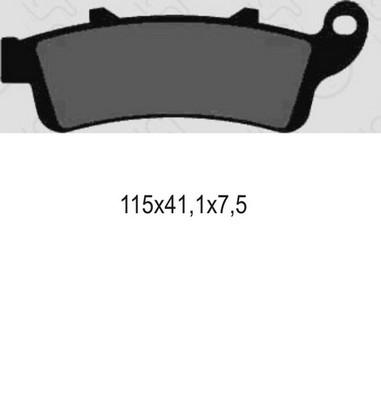Brzdové desky Honda 650-1800 (97-09)