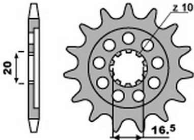 Řetězové kolečko Suzuki RMZ 250 (04-06)