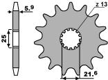 Řetězové kolečko Yamaha DT/TT 50-100 (88-12)