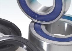 Sada ložisek+gufera přední kolo KTM 125 SX (03-09)