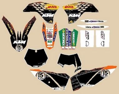 Polepy KTM Factory graphic kit (08-09)