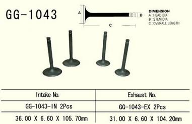 Ventil sací HONDA XL 600R/XR 650L/XR 600R
