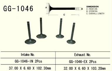 Ventil výfukový HONDA XR 650R/TRX 700XX (00-09)