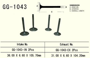 Ventil výfukový HONDA XL/XR 600/650L/R (83-15)