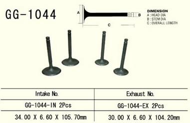 Ventil výfukový HONDA XL 600R (85-87)