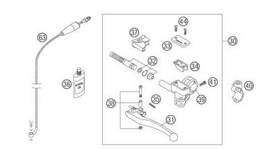 Opravná sada spojkové pumpy Magura KTM (99-10)