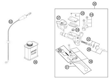 Krycí prachovka spojkové páčky Brembo KTM (06-13)