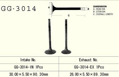 Ventil sací SUZUKI DR/DRZ/GN 125 (86-15)