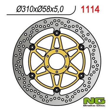 Brzdový kotouč přední HONDA CBR 1100 XX (97-98)