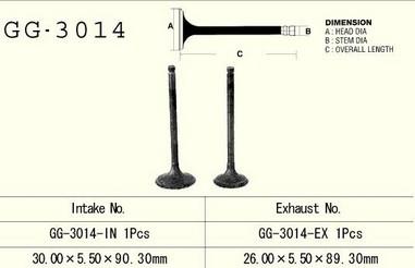 Ventil výfukový SUZUKI DR/DRZ/GN 125 (86-15)