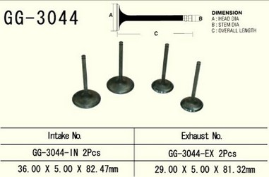 Ventil sací SUZUKI DRZ 400 (00-09), LTZ400 (03-09)