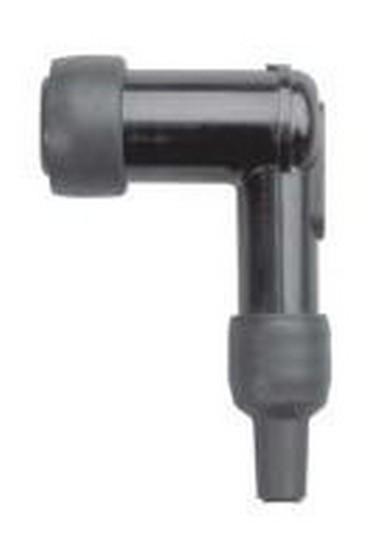 Fajfka na svíčku ebonitová (90°) černá