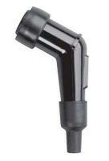 Fajfka na svíčku ebonitová (120°) černá