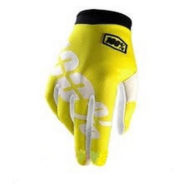 RUKAVICE 100% ITRACK NEON žlutá fluo