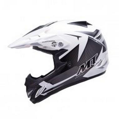 Přilba MT Helmets MX-2 KID JUNIOR STEEL černá/bílá