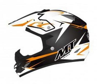 Přilba MT Helmets MX-2 KID JUNIOR STEEL černá/oranž
