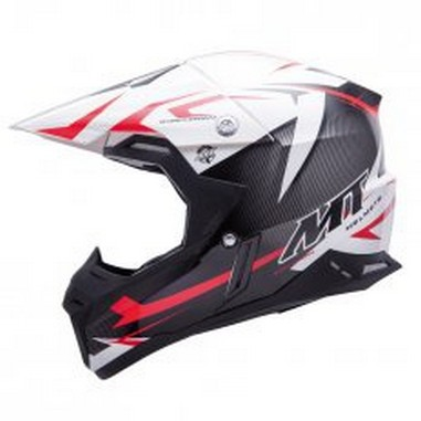 Přilba MT Helmets MX-2 KID JUNIOR STEEL černá/červená