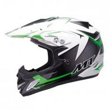 Přilba MT Helmets MX-2 KID JUNIOR STEEL černá/zelená
