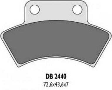Brzdové desky zadní Polaris 250-500 (87-00)
