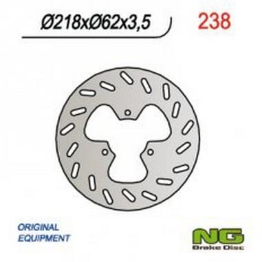 Brzdový kotouč zadní GAS GAS 125/450 (06-08)