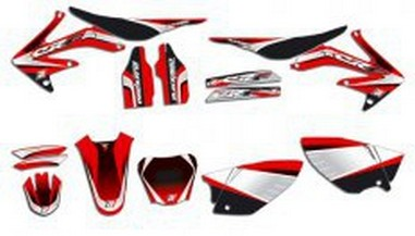 Polepy+potah sedla Honda CR 125/250 (04-07)