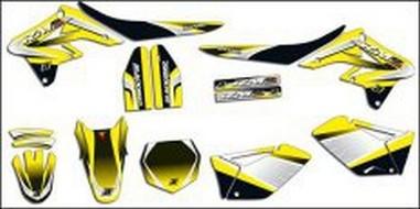 Polepy+potah sedla Suzuki RMZ 450 Krypton (08-11)
