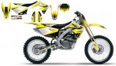 Polepy+potah sedla Suzuki RMZ 250 (10-11)
