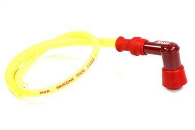Fajfka na svíčku ebonitová (90°) červená